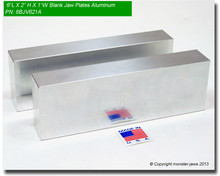 """6 x 2 x 1"""" Aluminum Blank Jaw Plates"""