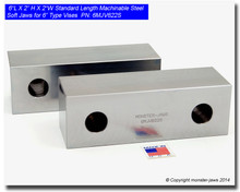 """6 x 2 x 2"""" Standard Steel Machinable Soft Jaws for 6"""" Vises"""