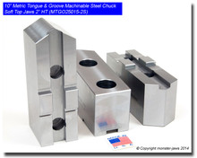 """10"""" Steel METRIC Tongue & Groove Jaws Pointed (2.0"""" HT)"""