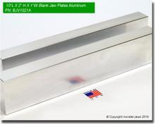 """10 x 2 x 1"""" Aluminum Blank Jaw Plates"""