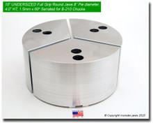 "10"" Undersized Aluminum Full Grip Round Jaws for B-210 Chucks (8"" Pie diameter, 4"" HT)"