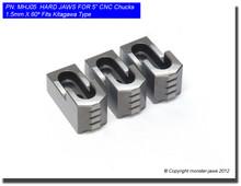 "5"" Hard Jaws 1.5mm x 60° Serrated for B-205 CNC Lathe Chucks"