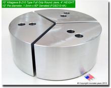 "10"" Aluminum Full Grip Round Jaws for B-210 Chucks (10"" Pie diameter, 4"" HT)"