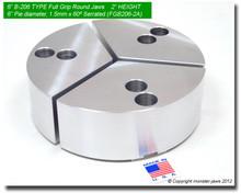 "6"" Aluminum Full Grip Round Jaws for B-206 Chucks (2"" HT, 6"" Pie diameter)"