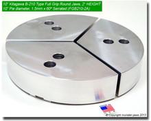 "10"" Aluminum Full Grip Round Jaws for B-210 Chucks (10"" Pie diameter, 2"" HT)"