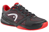 Head Men's Revolt Indoor Low Raven/Red Racquetball Shoes