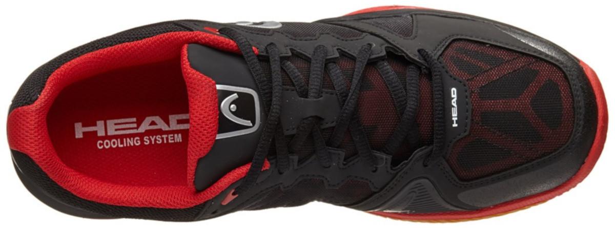 13 Head Revolt Pro Indoor Shoes Raven//Red