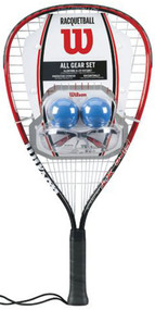 Wilson All Gear Racquetball Starter Pack
