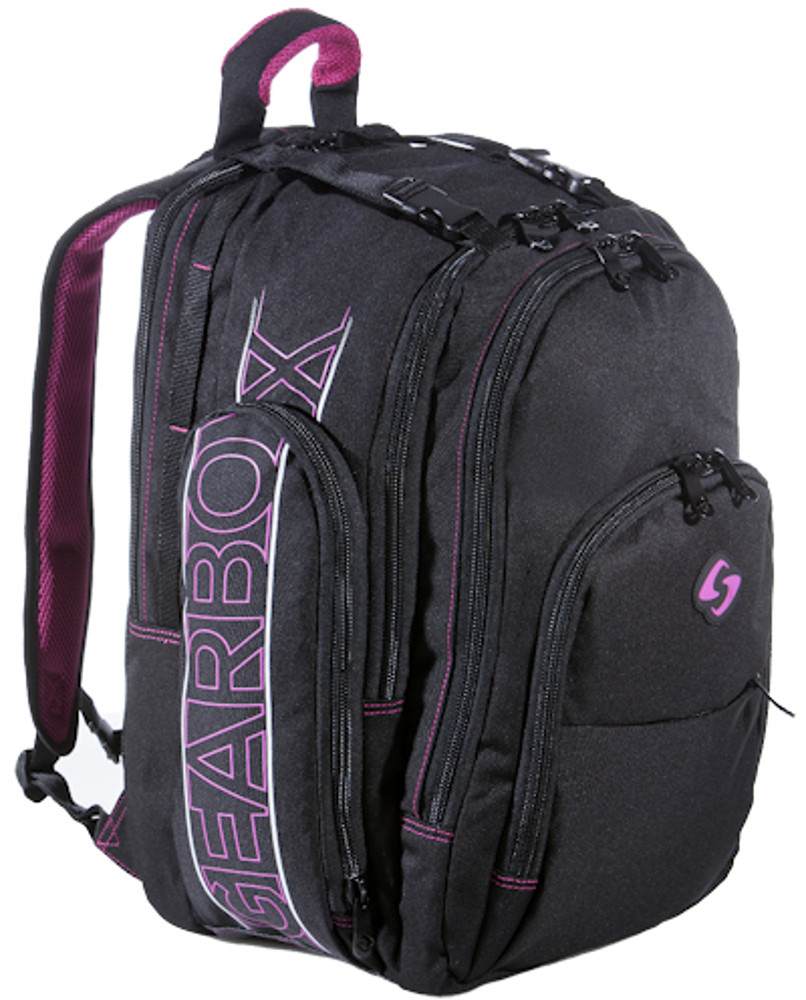Gearbox Anniversary Black Pink Backpack - Racquetball Dallas 60557e8672eb8