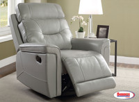 71760 Recliner with Swivel Glider Platinum