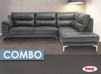 Combo 7 Pcs. | 2076 ANDREW GREY SECTIONAL LIVING ROOM
