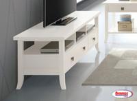 604 White Cabinet TV