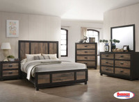 G100 Harlington Rustic Grey Bedroom