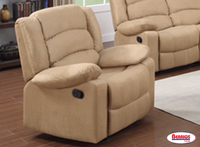 844 Beige Rocker Recliner James