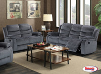 30650 Grey Recliner Living Room