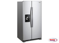 75607 | Whirpool Refrigerator 21' Stainless Steel Side by Side