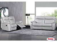 3523 Light Grey Recliner Living Room Sets