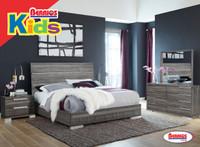 501 Milano Dark Gray Bedroom (Juvenil)