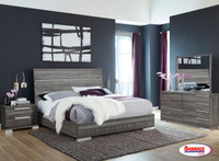 501 Milano Dark Gray Bedroom