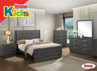 LH132 Juvenil Black-Grey Bedroom