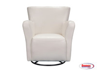 63275 Swivel Marilyn Chair White (PU)
