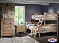 961824 Rustic Drift Bunk Bed Twin | Full