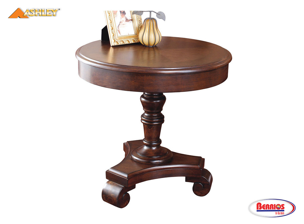 496 Brookfield End Table Dark Brown Berrios Te Da Mas
