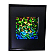 3D Letters Hologram Picture (FRAMED), Collectible EMBOSSED Type Film