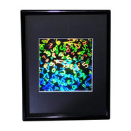 3D NUMBERS IN SPACE Hologram Picture(FRAMED), Collectible EMBOSSED Type Film