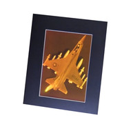 F-12 Fighter Jet 2-Channel 3D Collectible Hologram Picture PHOTOPOLYMER - Matted