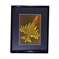 F-12 Fighter Jet 2-Channel 3D Collectible Hologram Picture PHOTOPOLYMER - Framed