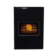 Polymer Heart with Grid PHOTOPOLYMER Hologram Picture Desk Stand