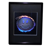 Smiley Face 2D/3D Collectible Hologram Picture - EMBOSSED - Framed