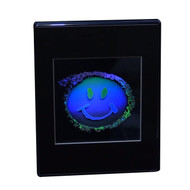 Smiley Face 2D/3D Collectible Hologram Picture - EMBOSSED - Desk Stand