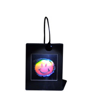 Smiley Face 2D/3D Collectible Hologram Picture - EMBOSSED - Light Desk Stand
