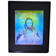 Jesus (Large) Stereogram 3D Collectible Hologram Picture - EMBOSSED - Framed