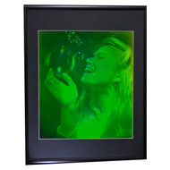 Bubble Girl (Pulse Portrait) 3D Collectible Hologram Picture PHOTOPOLYMER Matted & Framed