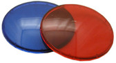 "WATERWAY | LENS KIT FOR WATERWAY 2 1/2"" HOLE SIZE RED & BLUE LENS 3 1/2"" LENS DIAMETER 