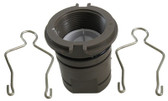 HAYWARD | FITTING, INLET WITH O-RING,  CHECK VALVE, & RETAINERS | ECX4201CA