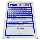 "MAINTANCE LINE | SIGN POOL RULES | 18""x24"" 