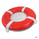 "MAINTANCE LINE | 24"" ORANGE FOAM RING BUOY CGA 