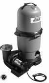 WATERWAY | COMPLETE PUMP & CARTRIDGE FILTER, 100 SQ FT CLEARWATER II, 1 HP HI-FLO, 115V, 2-SPEED, 6' NEMA CORD | 522-5127-6S