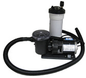 WATERWAY | COMPLETE PUMP & CARTRIDGE FILTER, 25 SQ FT TWM, 1/8 HP, 115V, 1-SPEED, 6' NEMA CORD, WITH TRAP | 520-4070