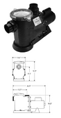WATERWAY | ENERGY EFFICIENT - FULL RATED PUMPS - SINGLE SPEED | SVL56E-110