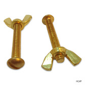 OREQ | BRASS SCREW & WING NUT SET 2PK | RP720