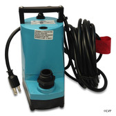SUMP PUMPS | SUBMERSIBLE POOL AND SPA SUMP PUMP | 5-MSP 1200GPH 115V 25'CD  | WATER WIZARD | 505025