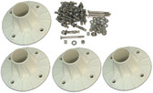SR smith | COMPLETE PLASTIC FLANGE KIT -  SET OF 4 WITH CONCRETE ANCHORS & HARDWARE | 75-209-5865