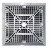 CUSTOM MOLDED PRODUCTS | 12 x 12 SQUARE FRAME & GRATE, GRAY | 25508-121-000L