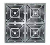 CUSTOM MOLDED PRODUCTS | 18 X 18 SQUARE FRAME & GRATE, WHITE | 25508-180-000L
