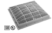 WATERWAY | 12 x 12 SQUARE FRAME AND GRATE, GRAY | 640-4727 V